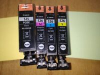 Four Canon original printer ink cartidges - 526/525