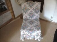 """Beautiful reupholstered small parker knoll chair with loose chintz cover 19"""" wide X 32"""" high"""