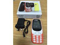 New NOKIA 3310 2017 Dual SIM 2MP Camera Mobile Phone - Orange No-0ffers
