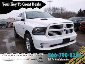 2015 Ram 1500 Sport- Uconnect 8.4, Remote Start, Tip Start, Heat