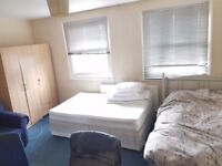 Large Bright Twin Room Share Avail in Fulham