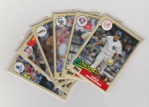 2017 TOPPS 1987 30TH ANNIVERSARY CARDS X6 LUIS SEVERINO