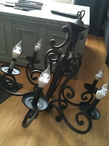Beautiful Cast Iron Foyer Chandelier