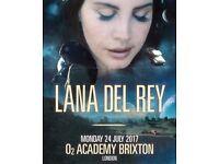 3x Lana Del Ray Tickets - O2 Academy Brixton - Monday 24th July