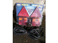 12V Magnetic Lighting Pod With Triangles And 10M Trailer Cable