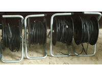 video cable reels 40 meters 4 of them good working order see pictures
