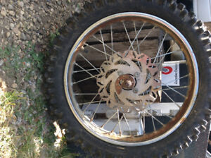 Dirt bike tires with rims
