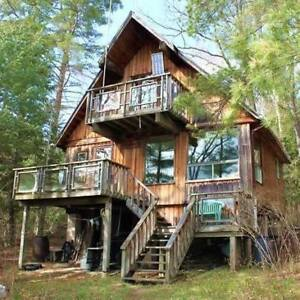 Rustic Cabin for Rent on Private Lake North of Kingston
