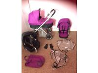 Oyster travel system Pram with maxi cosi car seat , buggy stroller pushchair ect