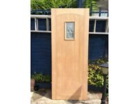 Solid ext doors (Howdens) cottage oak / dordogne oak glazed £90 each cont 01458272351 (wt 45.5 kg)