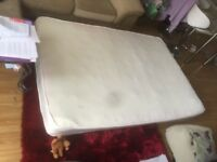 Sprung and Memory foam Double Mattress (the spot is a mark on the camera)