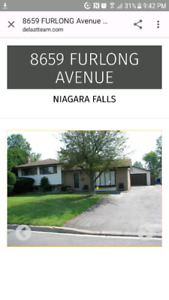 House for sale Niagara falls, on quiet Street no rear Neighbors