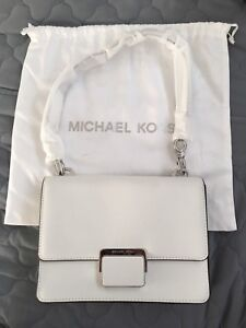 Brand new mk white leather lurssx
