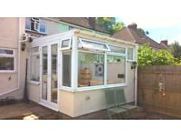 Conservatory For Sale - White PVCU Lean to