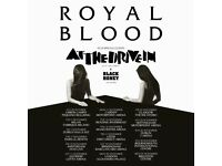 4x Royal Blood standing tickets, Alexandra Palace London, Monday 20th November 2017