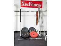 Powerline Squat Rack and Body Power Bumper Olympic Discs (can be sold separately)