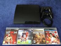 PlayStation 3 (+4 games, 2 controllers). In very good condition.