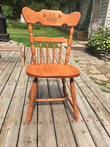 Solid Maple Chairs- Set of 5