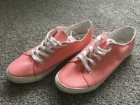 Brand new pink canvas trainers size 5 - Accessorize