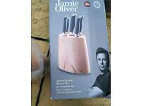 Jamie Oliver 5 piece block set kitchen brand new cooking