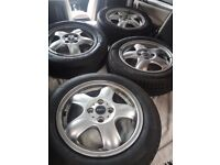 Mini One Silver Alloys With Tyres 15""
