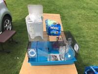 Blue starter hamster cage