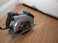 Parkside 1350w Circular saw - LASER GUIDED! inc spare blade nearly new condition