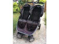 Britax twin pushchair