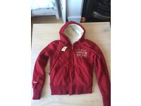 Abercrombie & Fitch Womens Logo Sherpa Hoodie