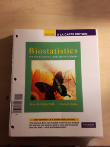 BIOSTATISTICS FOR BIOLOGICAL & HEALTH SCIENCES 1ST EDITION