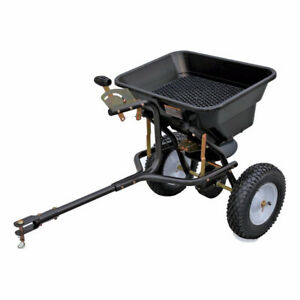 Blue Hawk 80-lb Capacity Tow-Behind Lawn Spreader (BRAND NEW)