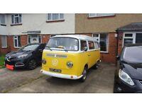 Yellow 1971 VW Campervan