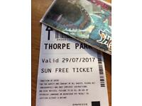 Thorpe Park tickets x2 for 29/07/2017
