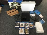 PS4 Slim, 1TB Perfect Condition, All Wires, Original PS4 Pad, 6 Games Boxed With Manuals