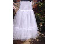 2 hoop wedding dress petticoat