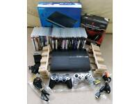 Ps3 super slim 512gb boxed like new + 32 games