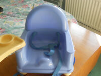 Child's dining chair booster seat