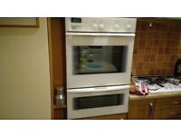 Bosch white integrated double oven and grill