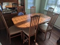 Extendable Dining Room Table 6 Chairs Offers Excepted