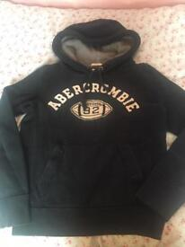 Abercrombie and Fitch hoody hoodie navy size 8 / 10