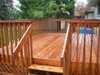 DECK N' FENCE WASH, WASHING, STAIN, STAINING