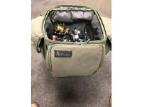 Purist Bait and tackle bag with 10+ fishing reels