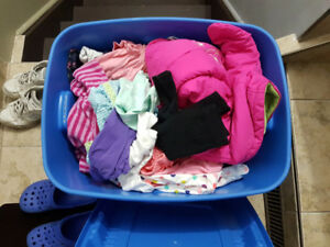 2 bins full of clothing