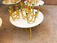 Free. Children's dining tables and chairs