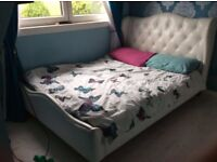FOR SALE: White Chelmsford Double Bed, Second-hand (Good Condition)