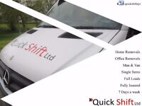 Quick Shift Ltd - Residential and commercial relocation service, Man and van, removals, courier