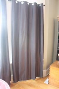 Grey Curtain Panels - set of 3