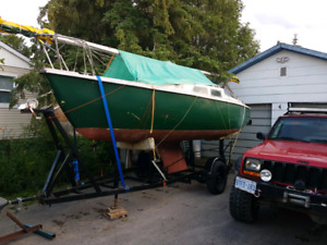22' sailboat and trailer