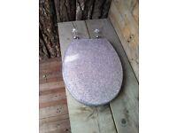 Glitter effect toilet seat !