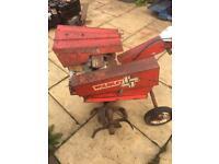 Wolseley super major rotavator tiller cultivator project barn find